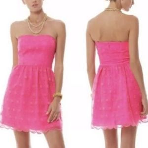 Lilly Pulitzer fit & flare bright pink dress